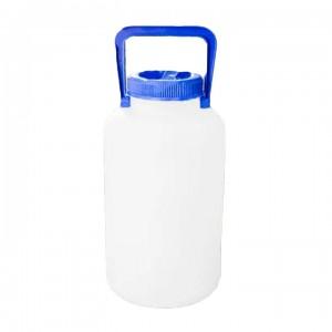 Бутылка узкогорлая градуированная 5000 мл, толстостенная с широким горлом, ПЭНД